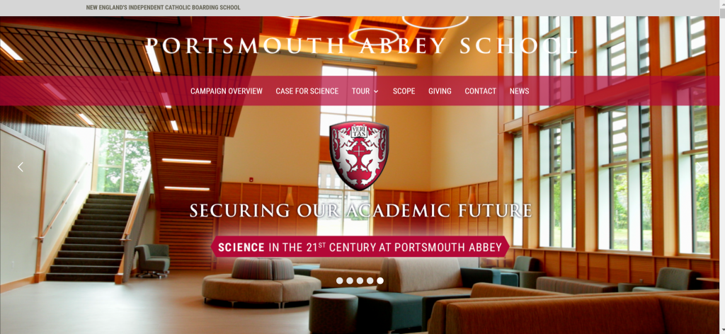 Portsmouth Abbey is one eample of how we design and write websites for capital campaigns.
